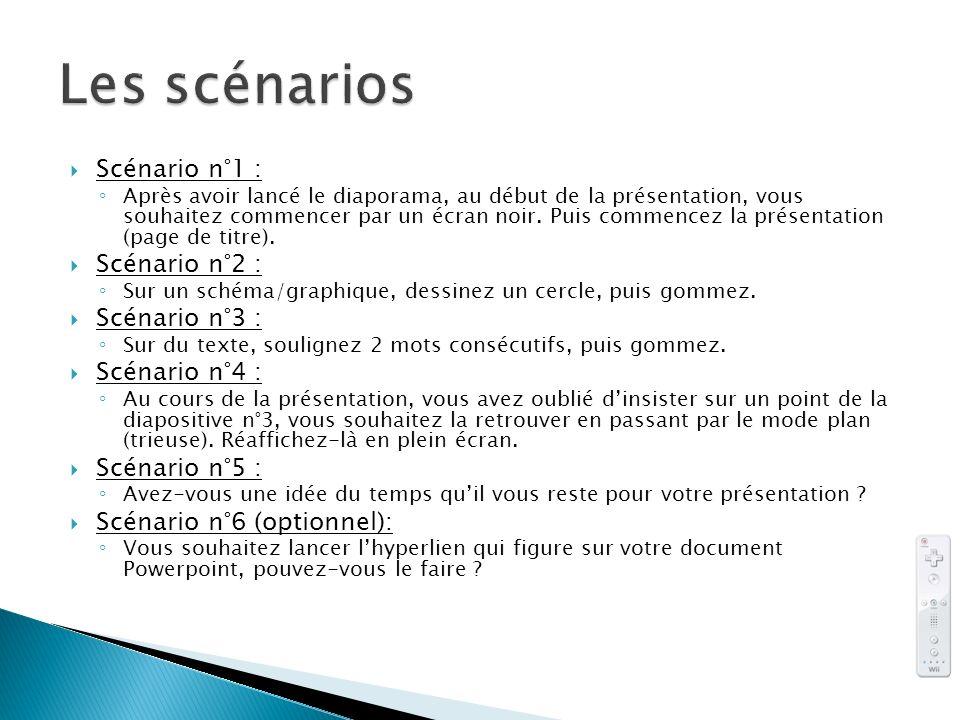 Scénario n°1 : Après avoir lancé le diaporama, au début de la présentation, vous souhaitez commencer par un écran noir. Puis commencez la présentation