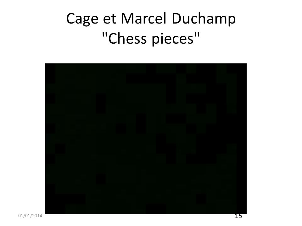 01/01/2014 16 Cage et Merce Cunningham Indépendance entre le compositeur et le chorégraphe