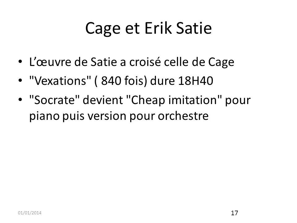 01/01/2014 18 Variations 3 Propos de Cage sur lui-même et ses créations font une juste conclusion «Être artiste, disait John Cage, c est d être engagé par soi-même, et non par quelqu un d autre».