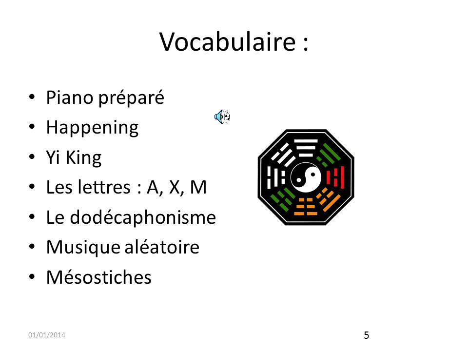 01/01/2014 6 Vocabulaire (suite) « A », le fait gloser, en ce que la lettre, en anglais, forme un mot, larticle indéfini, « A ».