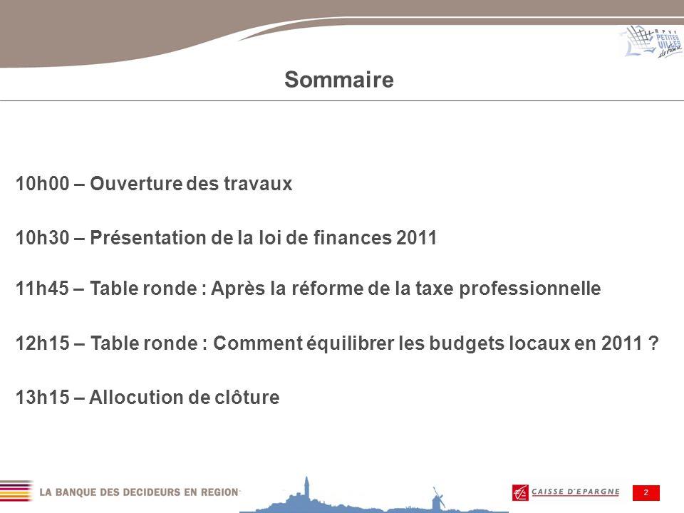 Ouverture des travaux Jean-Pierre BALLIGAND - Député-maire de Vervins, 1er Vice-président de lAPVF Jean-Sylvain RUGGIU - Directeur du Secteur Public, BPCE