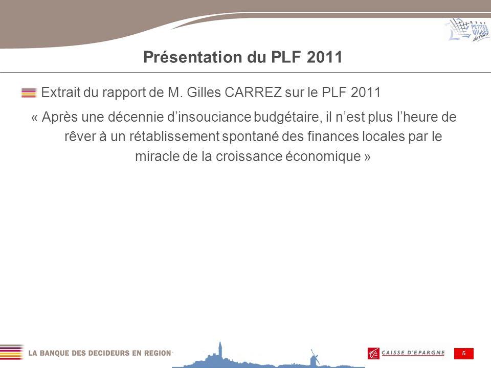 Journée Loi de Finances 2010 6 PLF 2011