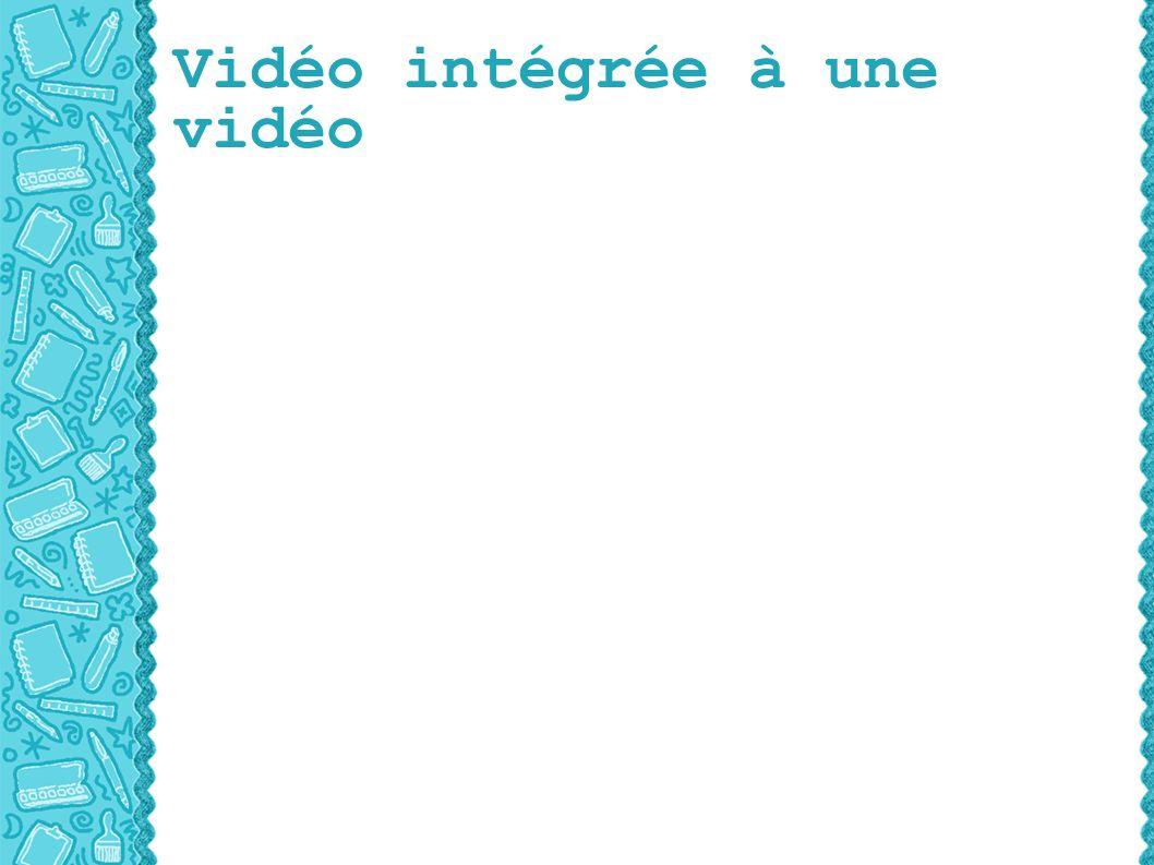 Vidéo intégrée à une vidéo