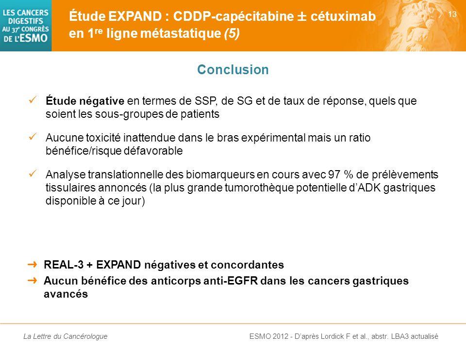 La Lettre du Cancérologue Effets secondaires de grade 3-4 (%) XP + Cet (n = 455) XP (n = 449) Neutropénie (fébrile)22 (2)32 (1) Anémie911 Thrombopénie