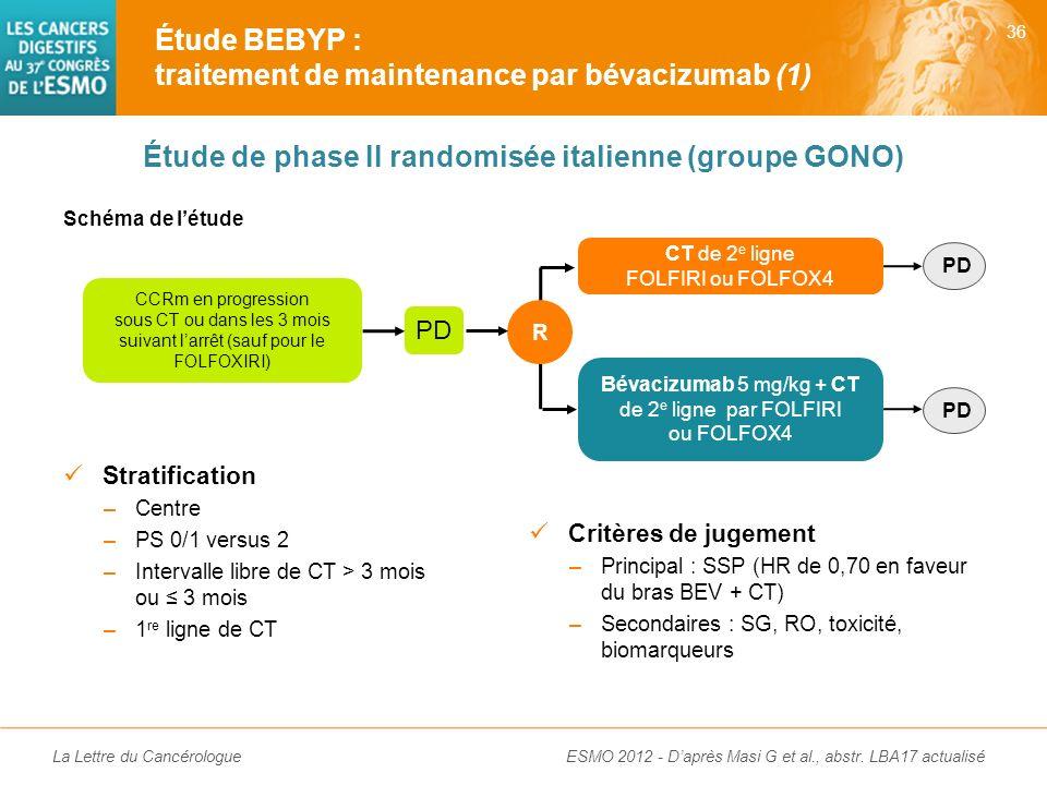 La Lettre du Cancérologue Première étude randomisée évaluant un immunomodulateur dans le CCRm Amélioration significative de la SSP depuis la 1 re lign
