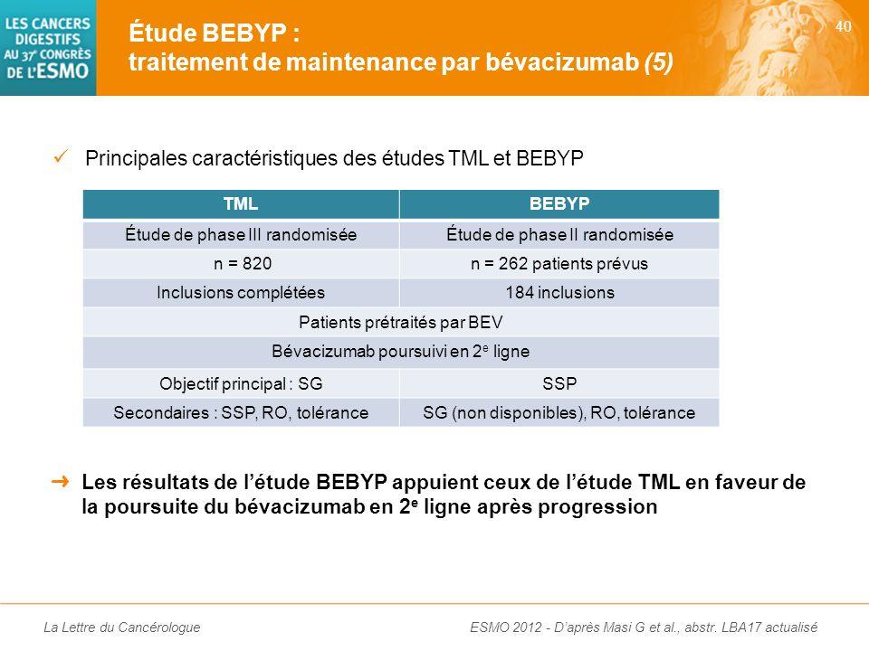 La Lettre du Cancérologue Grade 3-4CT (n = 92) CT + BEV (n = 92) EIG de grade 3-4 (%)4344 Décès toxique (%)01 Neutropénie (fébrile) [%]27 (3)24 (4) HT