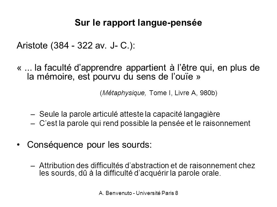 A.Benvenuto - Université Paris 8 1.2.