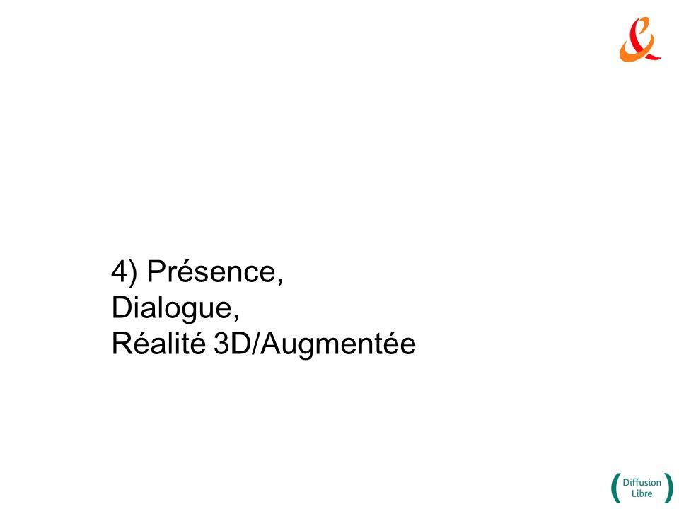4) Présence, Dialogue, Réalité 3D/Augmentée