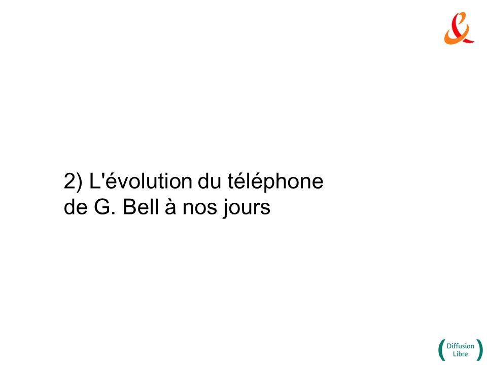 2) L'évolution du téléphone de G. Bell à nos jours