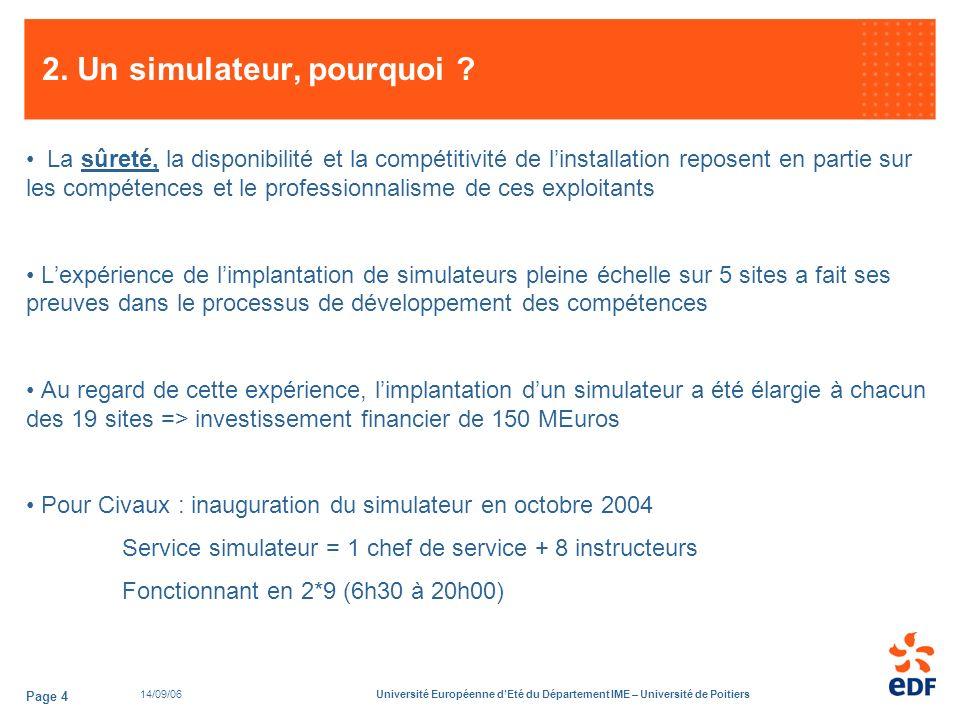 14/09/06Université Européenne dEté du Département IME – Université de Poitiers Page 4 2.
