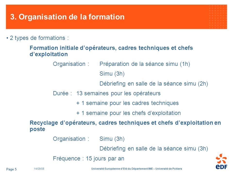 14/09/06Université Européenne dEté du Département IME – Université de Poitiers Page 5 3.