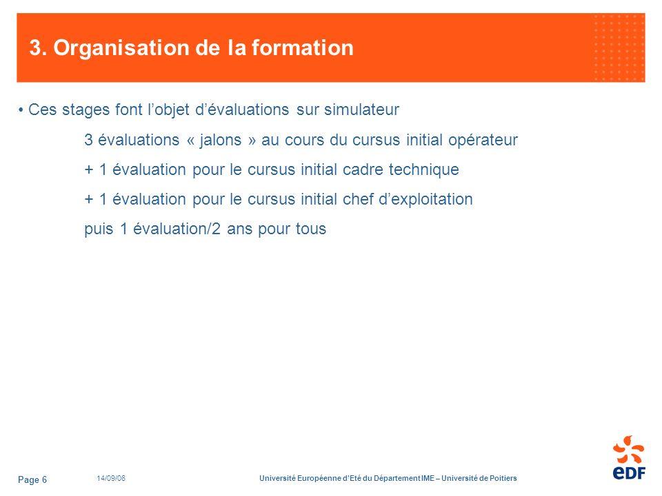14/09/06Université Européenne dEté du Département IME – Université de Poitiers Page 6 3.