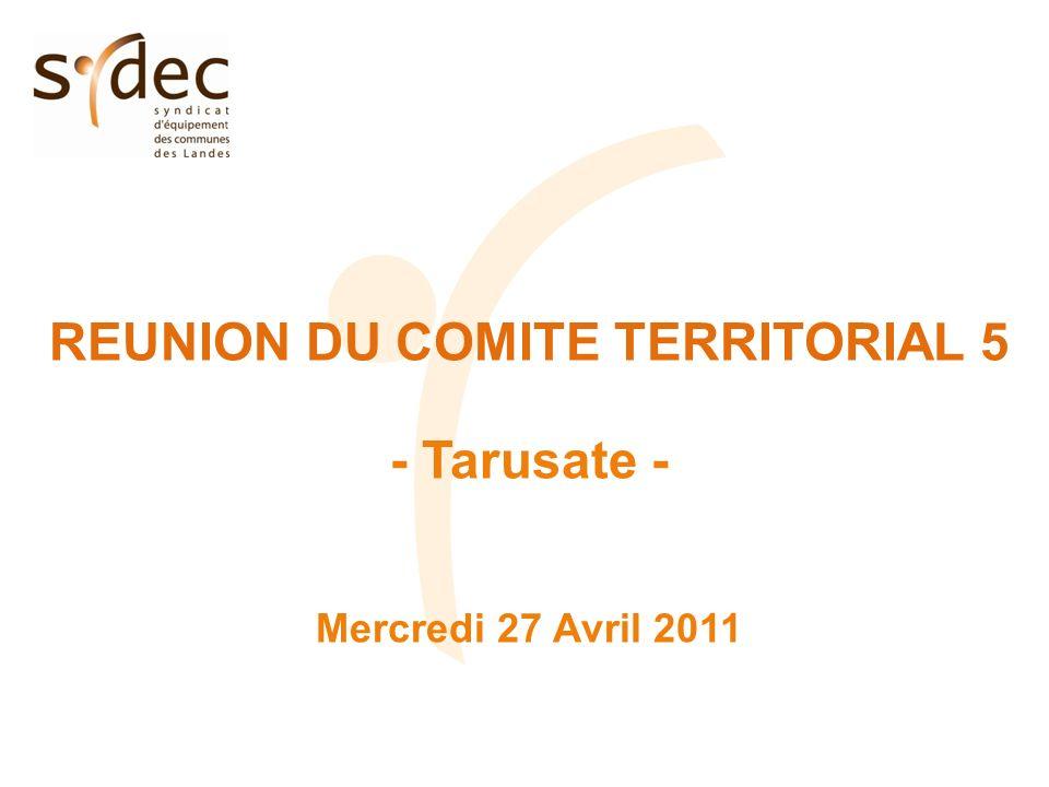 REUNION DU COMITE TERRITORIAL 5 - Tarusate - Mercredi 27 Avril 2011