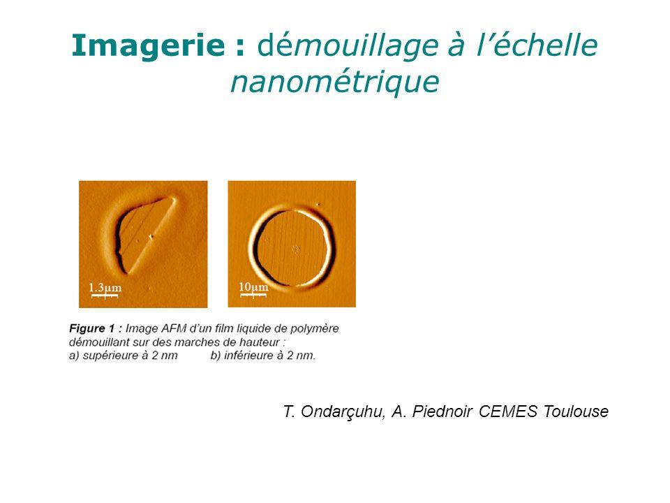 Imagerie : démouillage à léchelle nanométrique T. Ondarçuhu, A. Piednoir CEMES Toulouse