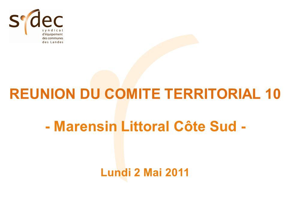 REUNION DU COMITE TERRITORIAL 10 - Marensin Littoral Côte Sud - Lundi 2 Mai 2011