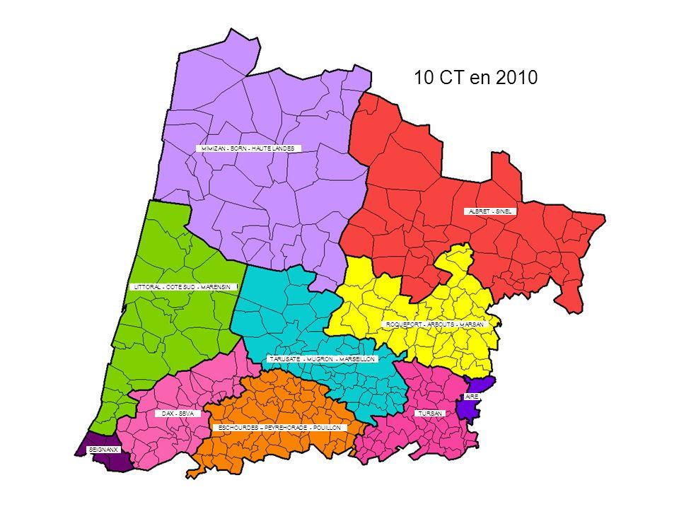 10 CT en 2010 LITTORAL - COTE SUD - MARENSIN MIMIZAN - BORN - HAUTE LANDES ALBRET - SINEL ROQUEFORT - ARBOUTS - MARSAN TARUSATE - MUGRON - MARSEILLON DAX - SBVA TURSAN SEIGNANX AIRE ESCHOURDES – PEYREHORADE - POUILLON