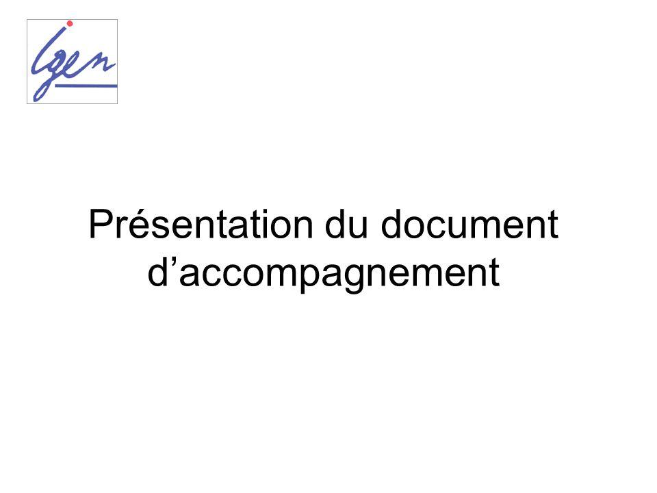 Présentation du document daccompagnement