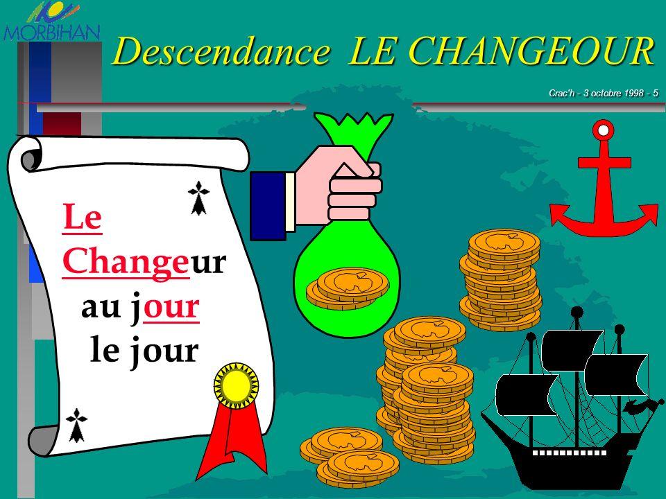 Crac'h - 3 octobre 1998 - 5 Crac'h - 3 octobre 1998 - 5 Descendance LE CHANGEOUR Le Changeur au jour le jour