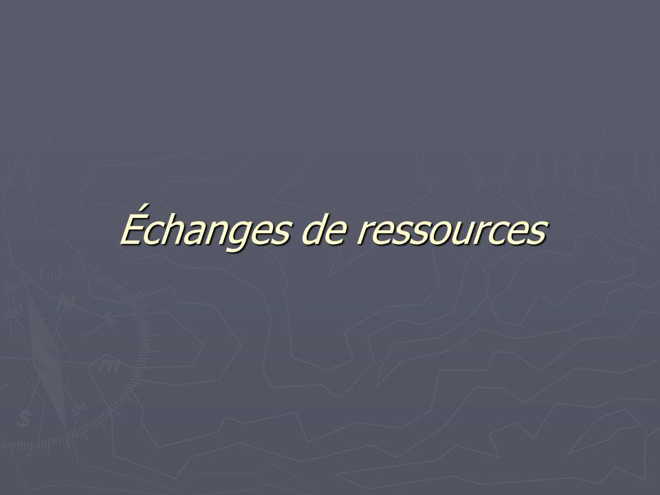 Échanges de ressources