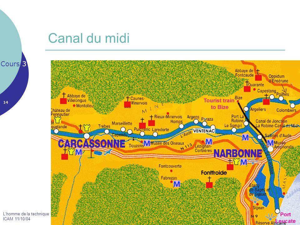 L'homme de la technique ICAM 11/10/04 14 Canal du midi Cours 3 Le Pont Neuf de Toulouse
