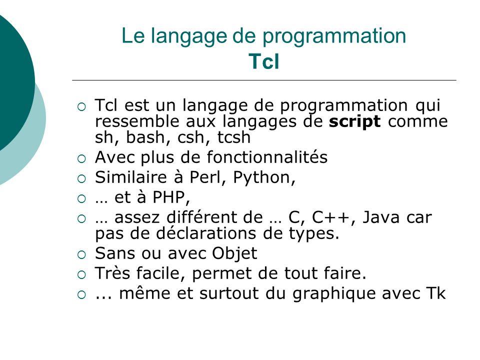 Un programme Tcl