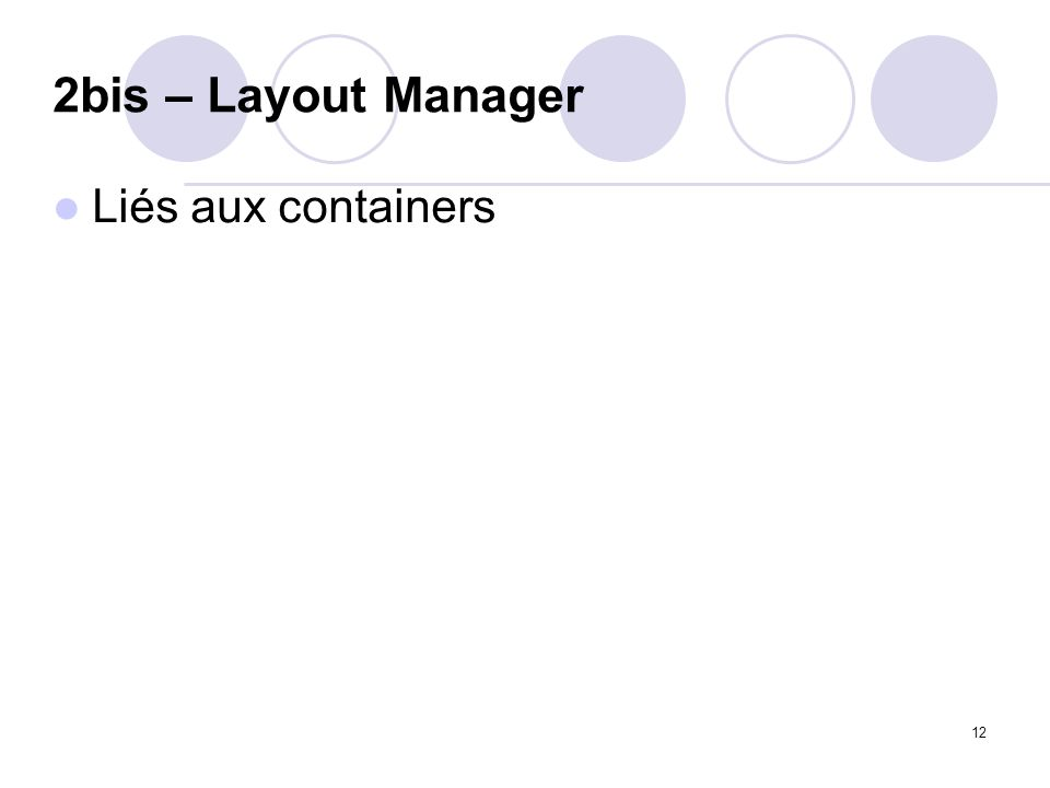 12 2bis – Layout Manager Liés aux containers