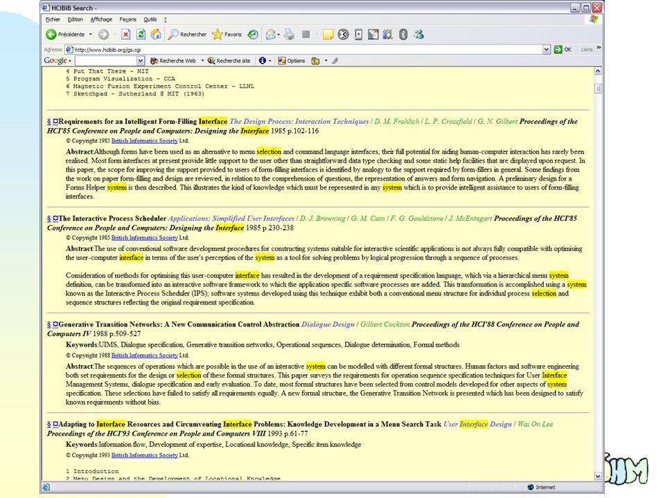 53 Compatibilité n Utiliser la connaissance de lutilisateur n Dénomination de commandes tirée du vocabulaire de lutilisateur
