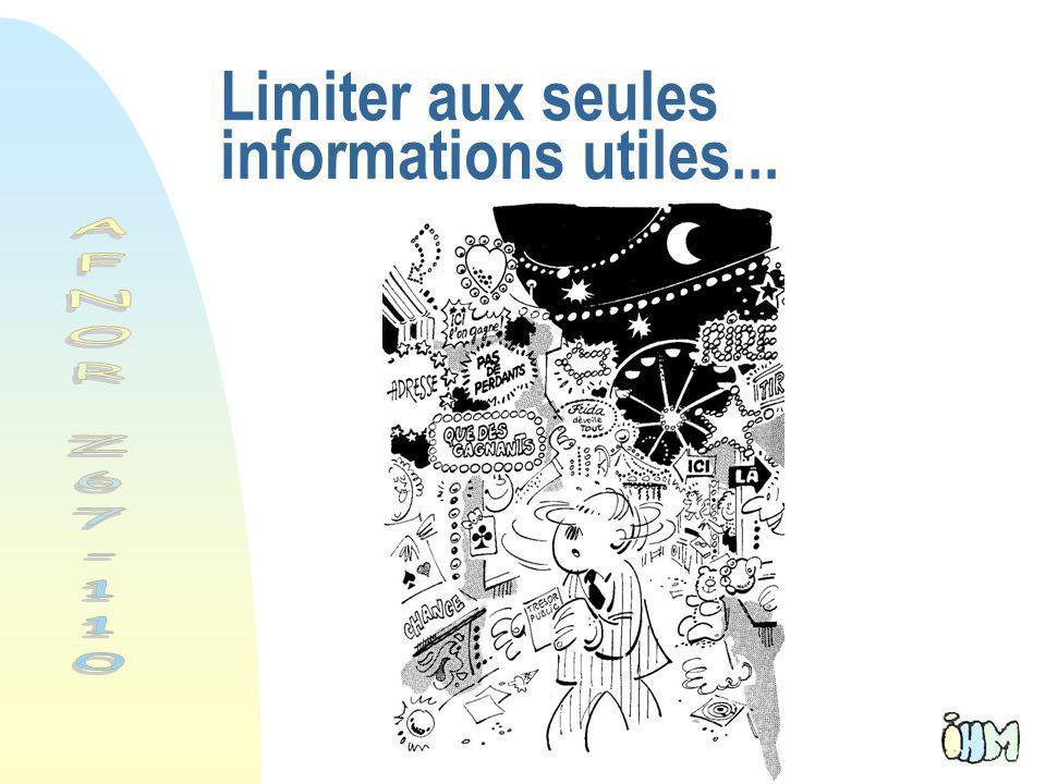 48 Limiter aux seules informations utiles...