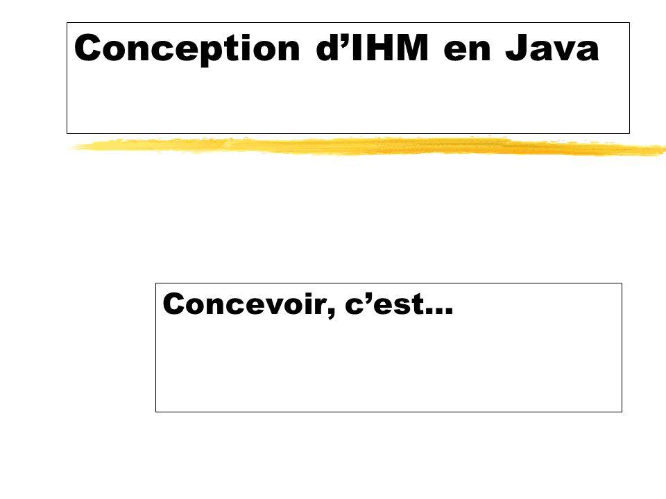 Conception dIHM en Java Concevoir, cest…