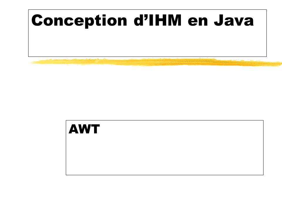 Conception dIHM en Java AWT
