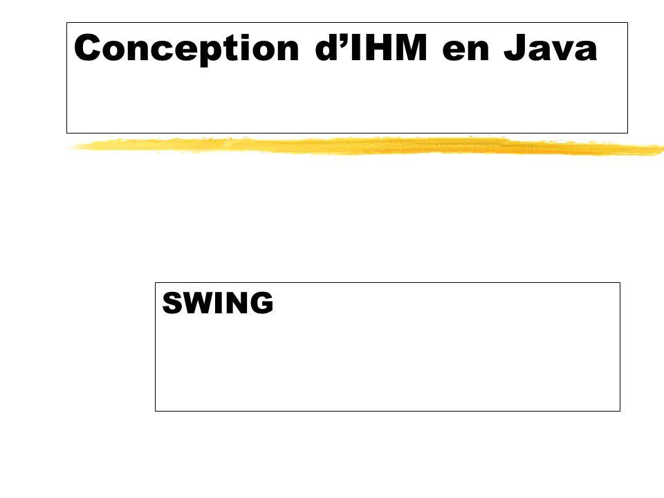 Conception dIHM en Java SWING