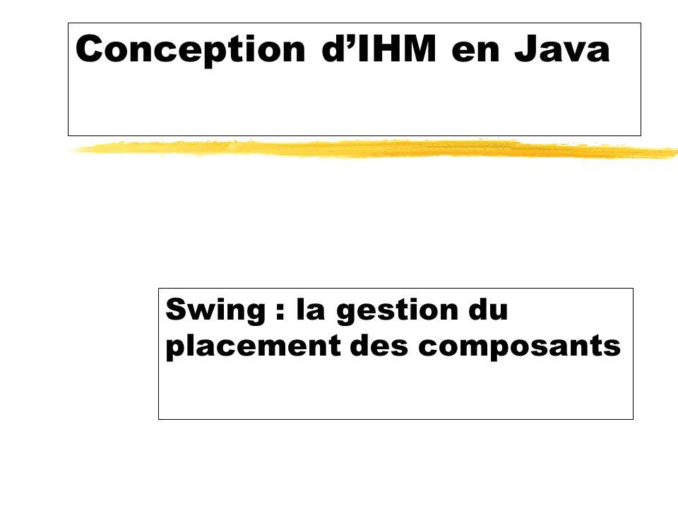 Conception dIHM en Java Swing : la gestion du placement des composants