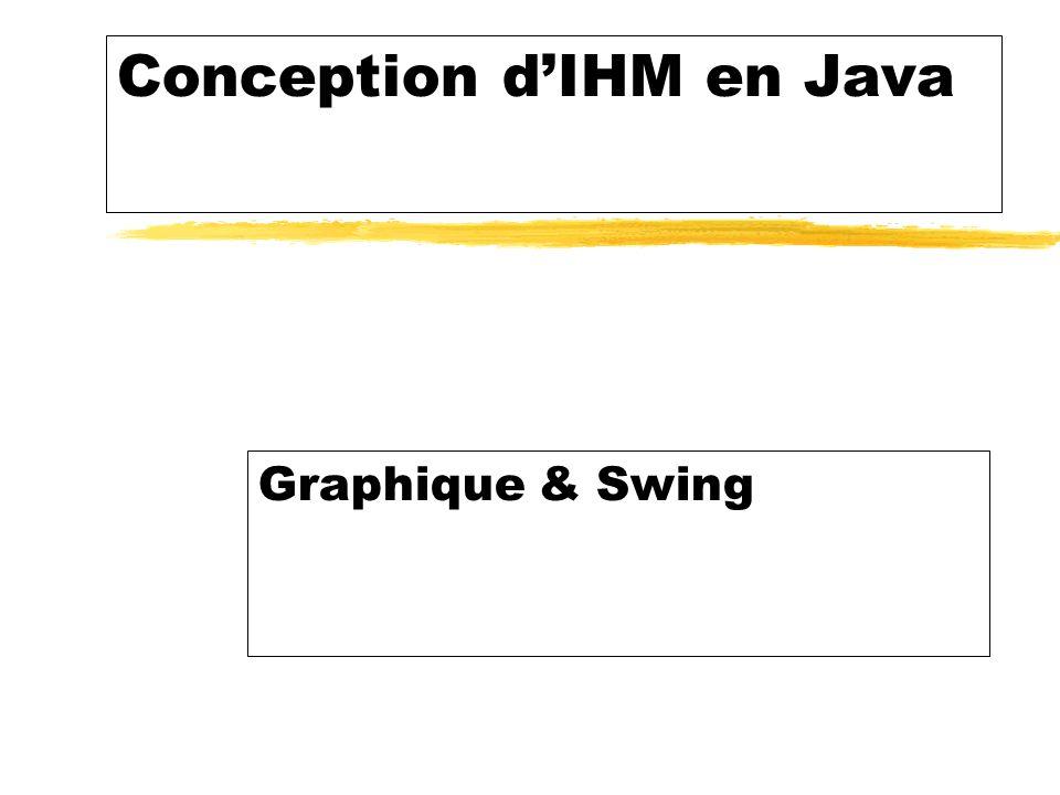 Conception dIHM en Java Graphique & Swing