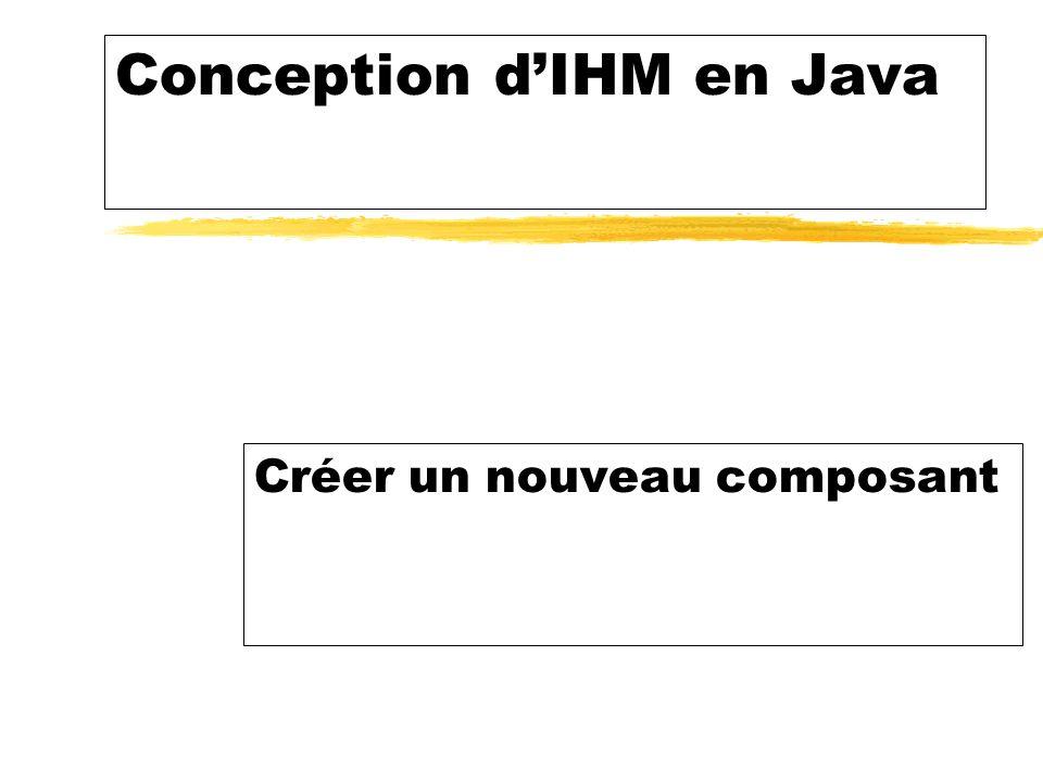 Conception dIHM en Java Créer un nouveau composant