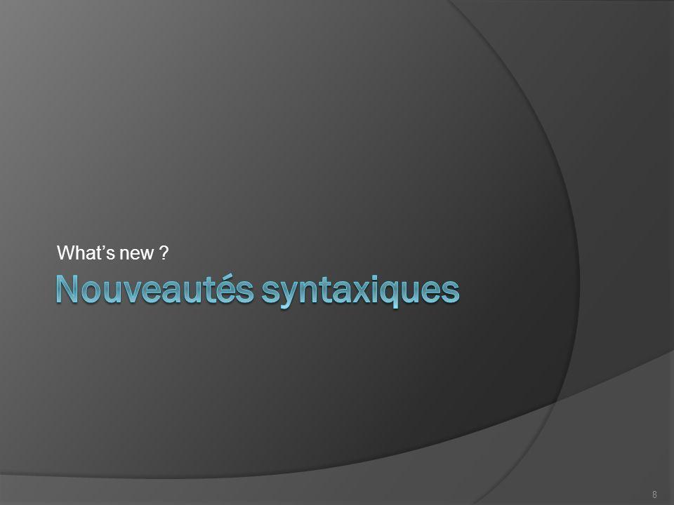 Hello World des temps modernes #include /* Commentaires Multi-lignes */ int main() { // Toujours le même prgm pour commencer std::cout << Tagazok ! << std::endl; return 0; } 9