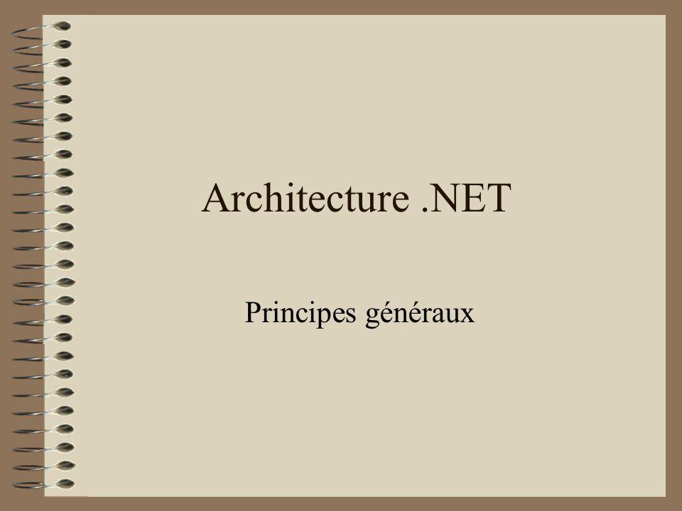 Architecture.NET Principes généraux