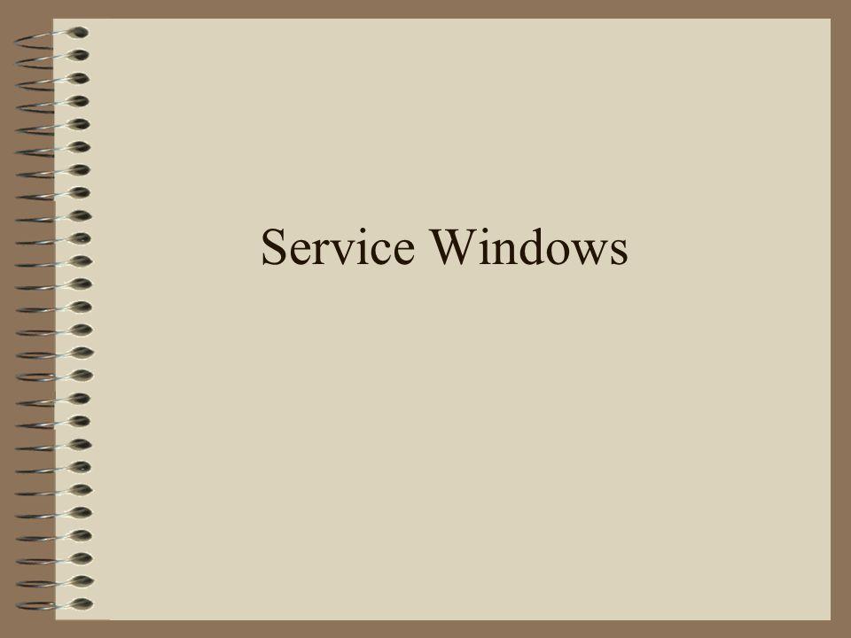 Service Windows