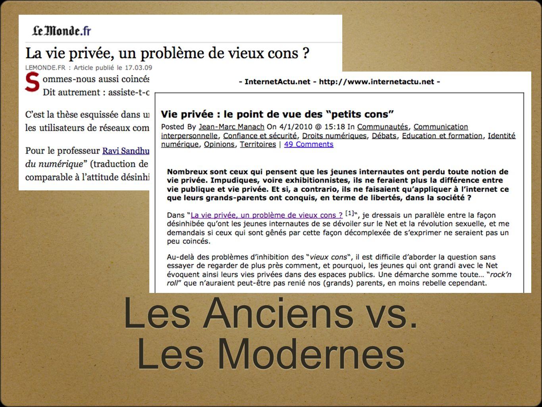 Les Anciens vs. Les Modernes