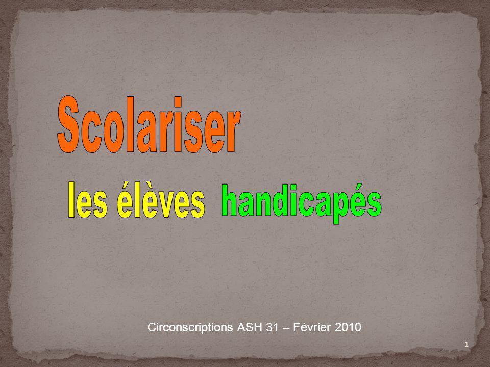 1 Circonscriptions ASH 31 – Février 2010
