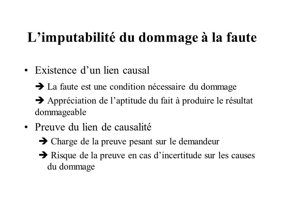 Défaut de lien de causalité Illustration : Cass.1re civ.