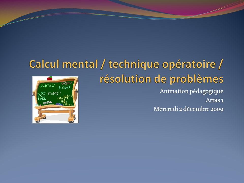 Animation pédagogique Arras 1 Mercredi 2 décembre 2009