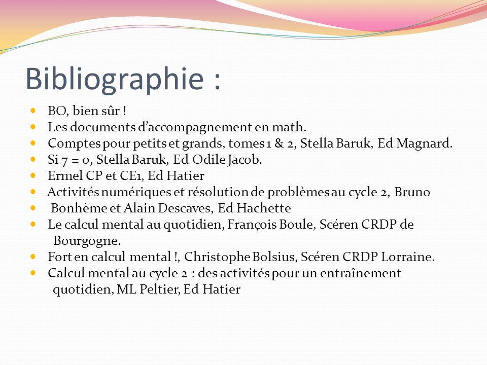 Bibliographie : BO, bien sûr ! Les documents daccompagnement en math. Comptes pour petits et grands, tomes 1 & 2, Stella Baruk, Ed Magnard. Si 7 = 0,