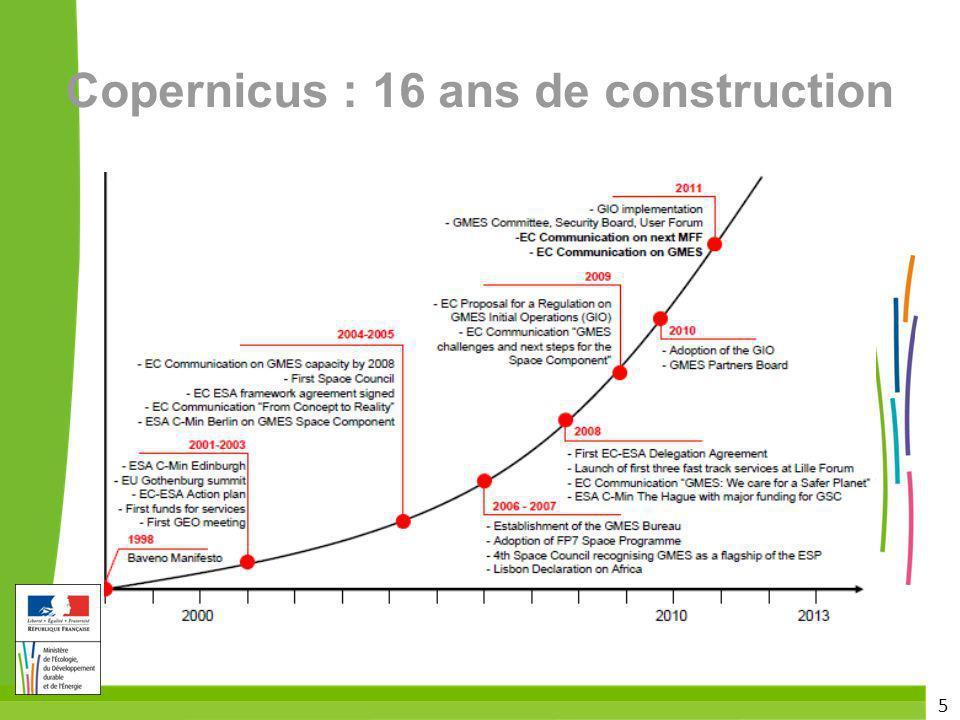 5 Copernicus : 16 ans de construction