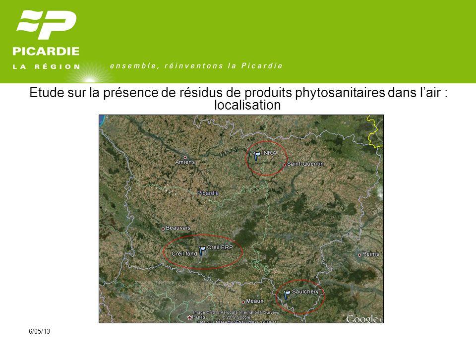 6/05/13 Etude sur la présence de résidus de produits phytosanitaires dans lair : localisation