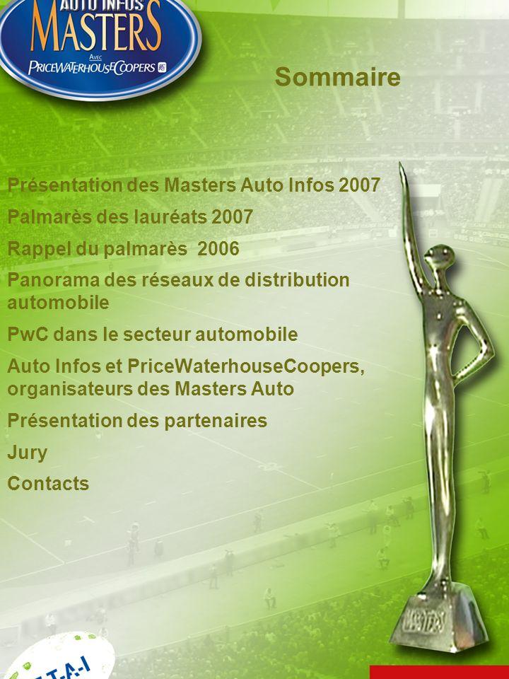 Sommaire Présentation des Masters Auto Infos 2007 Palmarès des lauréats 2007 Rappel du palmarès 2006 Panorama des réseaux de distribution automobile P