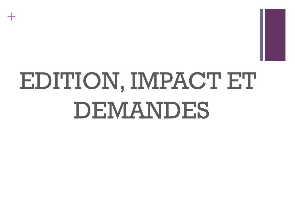 + EDITION, IMPACT ET DEMANDES