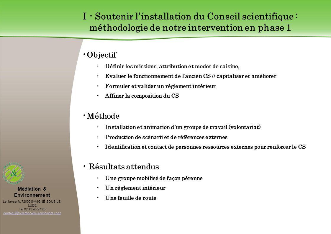 Médiation & Environnement La Mercerie, 72800 SAVIGNÉ-SOUS-LE- LUDE Tél 02 43 45 27 25 contact@mediation-environnement.coop contact@mediation-environne