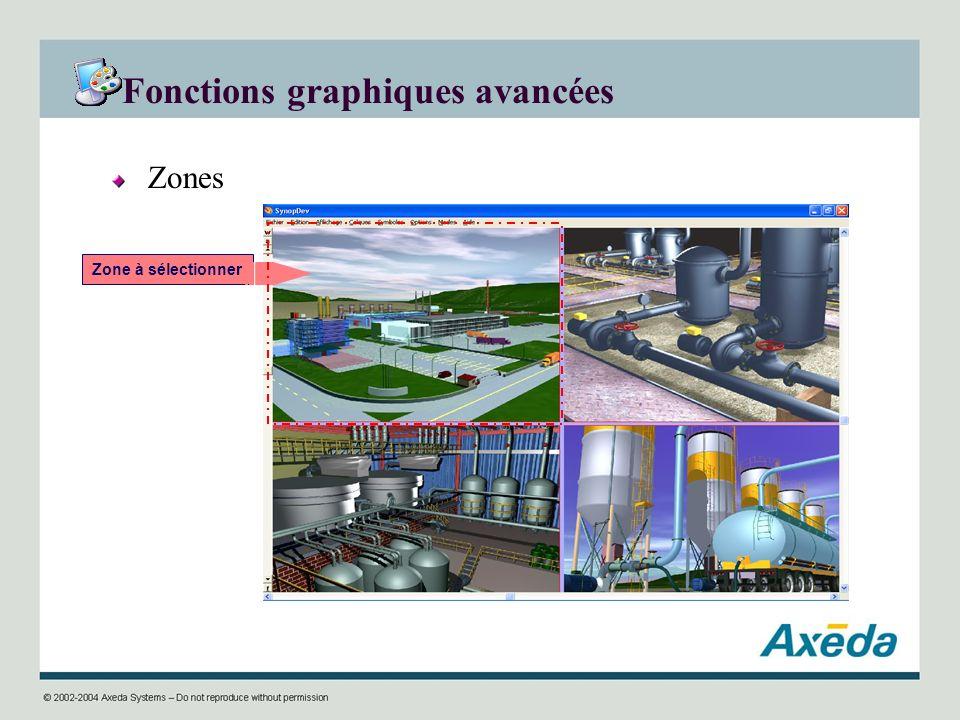 Fonctions graphiques avancées Zones Zone à sélectionner