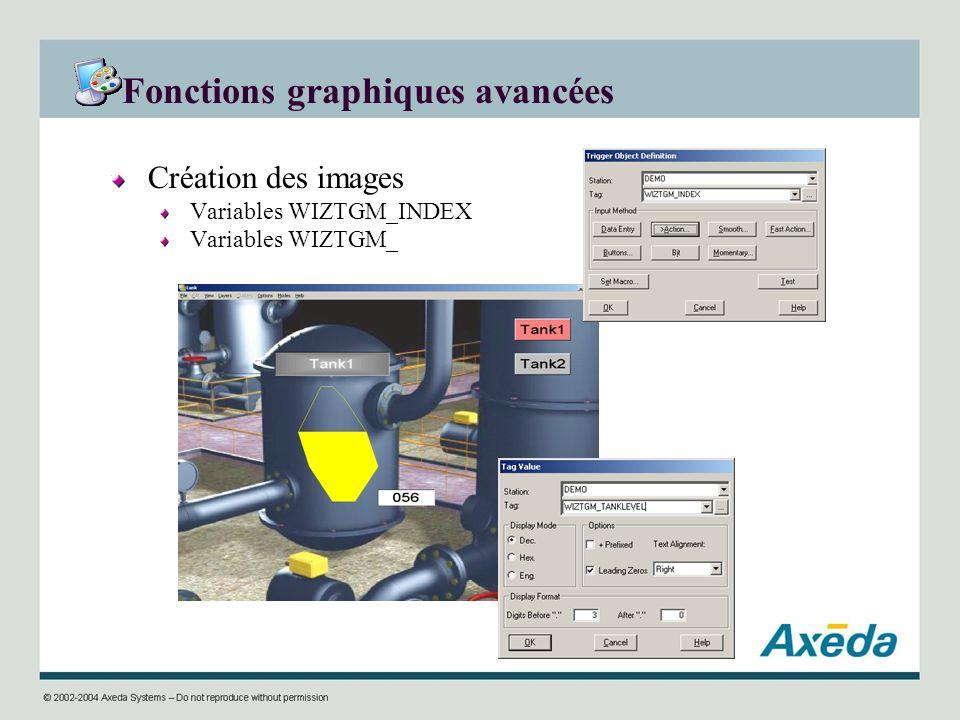 Fonctions graphiques avancées Création des images Variables WIZTGM_INDEX Variables WIZTGM_