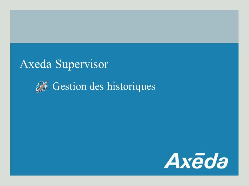Gestion des historiques Axeda Supervisor